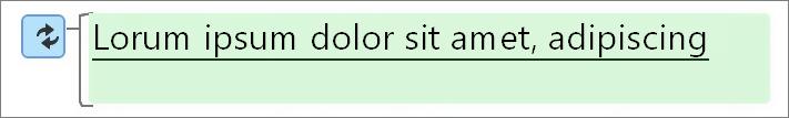 En grøn fremhævning betyder ændret tekst.