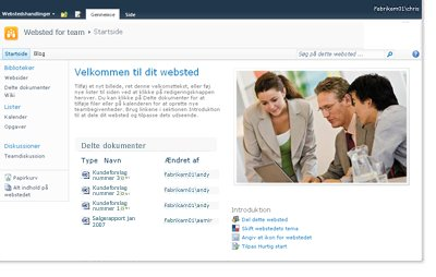 SharePoint-teamwebsted