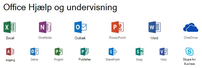 Supportmuligheder for Microsoft Office
