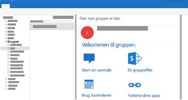 Få vist og læs eller besvar gruppesamtaler i Outlook til Mac