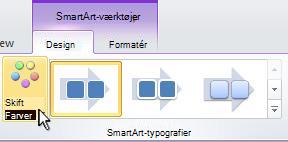 Skift farven på din SmartArt-grafik.