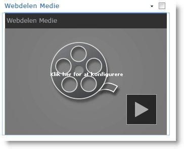 Den indsatte webdel Medie