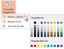Vælg en baggrundsfarve