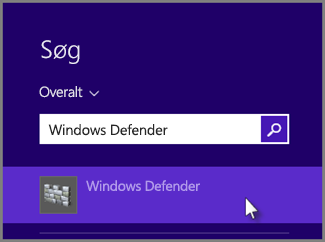 Skriv Windows Defender, og klik for at åbne det.