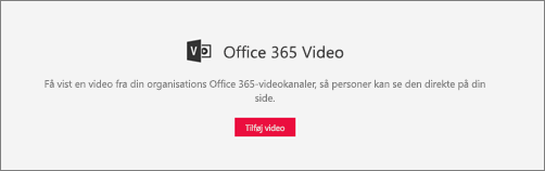 Office 365 Video-webdel