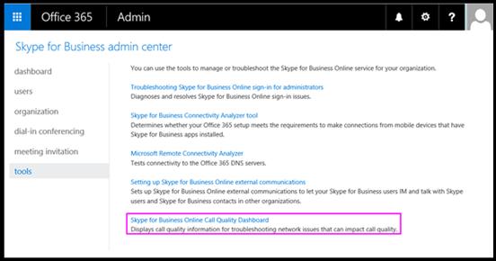 Skype for Business-værktøjer