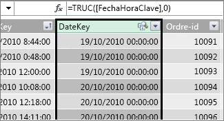 Kolonnen DateKey