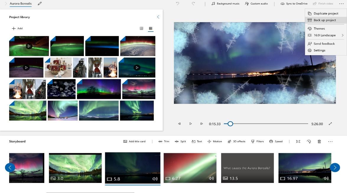 Publicere din video