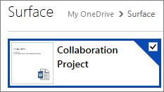 Dokument, der er markeret i OneDrive til deling