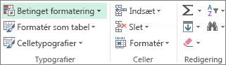 Betinget formatering