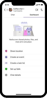 Teams tom dashboardillustration i iOS