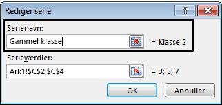 Skriv en forklarende tekst i tekstfeltet Serienavn, og klik på OK.
