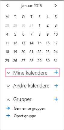Tilføj ny kalender
