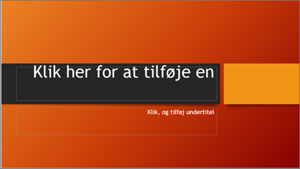 Klik for at tilføje tekst