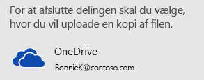 Hvis du ikke har gemt din præsentation på OneDrive eller SharePoint, beder PowerPoint dig om at gøre det.