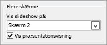 Indstillinger for skærm i PowerPoint 2010