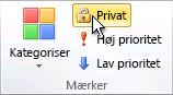 Kommandoen Privat i gruppen Mærker