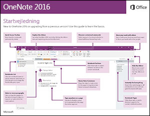Startvejledning til OneNote 2016 (Windows)