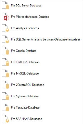 Hente data fra en Database