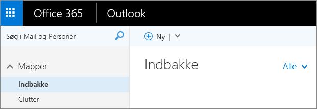 Et billede af, hvordan båndet ser ud i Outlook på internettet.