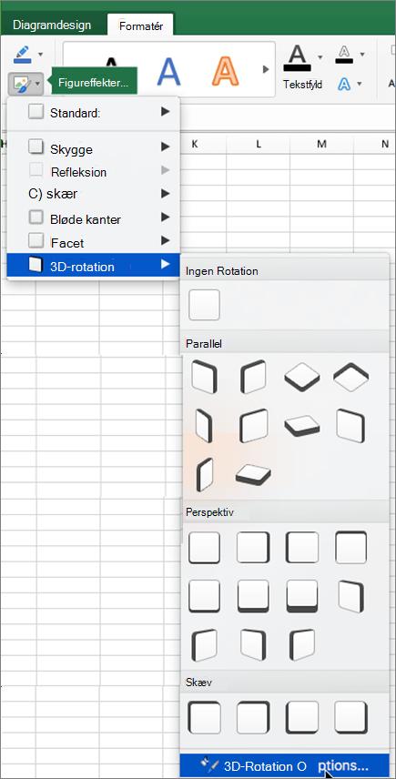 Indstillinger for rotation af 3D-billeder
