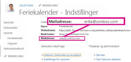 Tilføje filer ved at sende mail