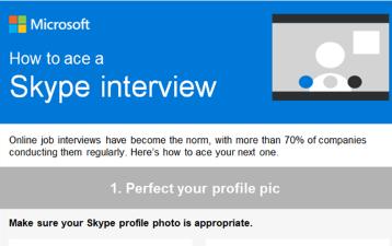 Tjekliste til samtale via Skype