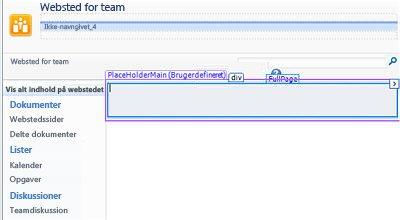 Tilføje sider i SharePoint Designer 2010
