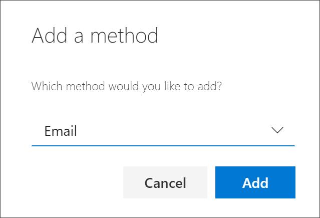 Feltet Tilføj metode med mail markeret