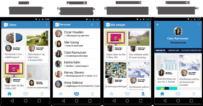 Skærmbilleder i Delve til Android