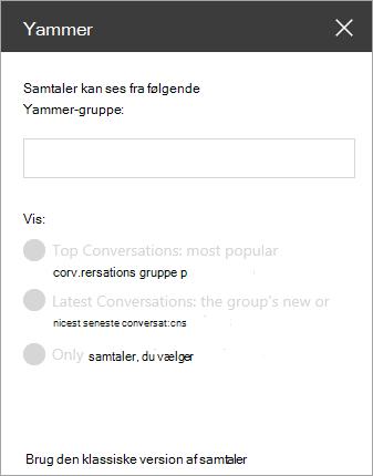 Søgelinje i Yammer-webdele
