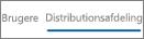 Skærmbillede af visningen Distribution i Yammer-enhedsbrugsrapport