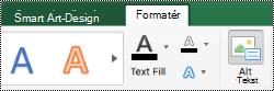 Knappen alternativ tekst til SmartArt-grafik i Excel til Mac