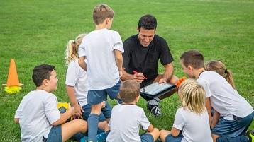 billede af en liste over børn til et sportshold