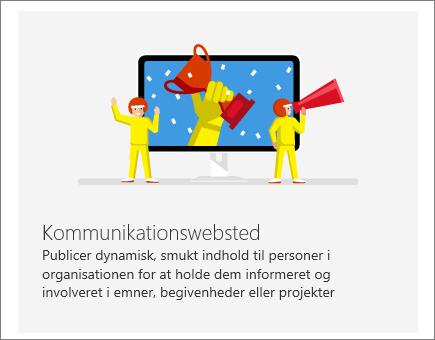 SharePoint Office 365-kommunikationswebsted