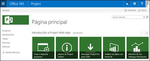 Project Online på spansk