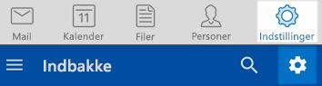 Outlook-indstillinger i iOS og Android