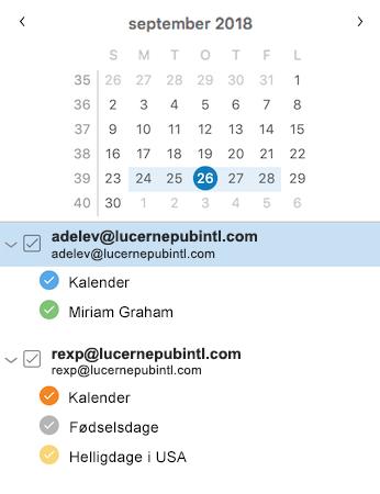 Forbedret sidepanel til kalenderen