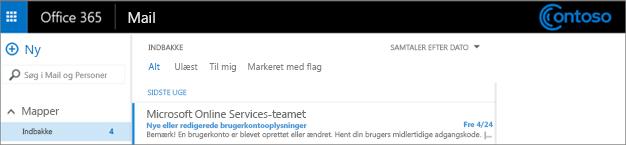 Et billede af et link til et teamwebsted