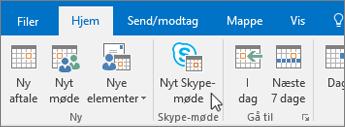 Planlæg et Skype for Business-møde