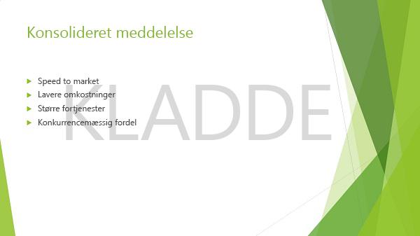 """Eksempel på en PowerPoint-slide med vandmærket """"Kladde"""""""