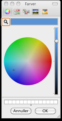 Dialogboksen Farver