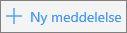 Skærmbillede viser knappen Ny mail i Outlook.com.