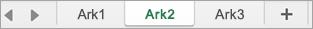Arkfaner i Excel