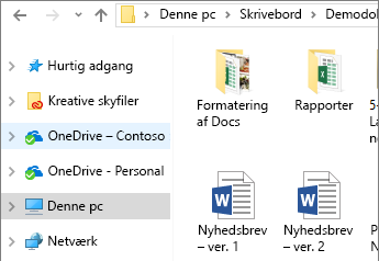OneDrive for Business i Stifinder