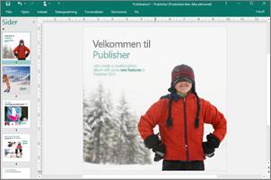 Brug Publisher til at oprette professionelle nyhedsbreve, brochurer og andre publikationer