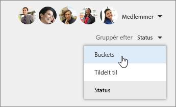 Gruppér efter buckets
