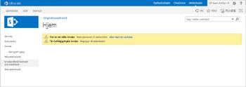 Publiceringswebsted med arbejdsprocesser