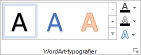 Gruppen WordArt-typografier