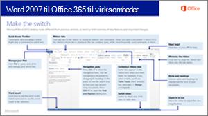Miniaturebillede af vejledning til skift fra Word 2007 til Office 365